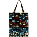 Block On Block, Aqua Zipper Classic Tote Bag View1
