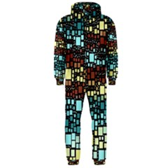 Block On Block, Aqua Hooded Jumpsuit (men)