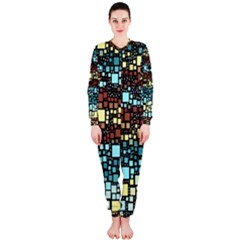 Block On Block, Aqua OnePiece Jumpsuit (Ladies)