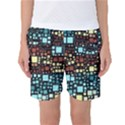 Block On Block, Aqua Women s Basketball Shorts View1