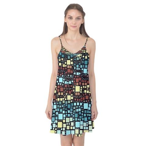 Block On Block, Aqua Camis Nightgown