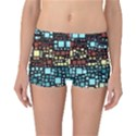 Block On Block, Aqua Reversible Boyleg Bikini Bottoms View1