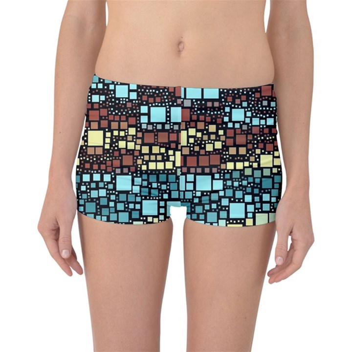Block On Block, Aqua Reversible Boyleg Bikini Bottoms