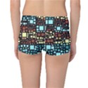 Block On Block, Aqua Reversible Boyleg Bikini Bottoms View2