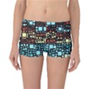 Block On Block, Aqua Reversible Boyleg Bikini Bottoms View3