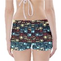 Block On Block, Aqua Boyleg Bikini Wrap Bottoms View2