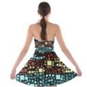 Block On Block, Aqua Strapless Bra Top Dress View2