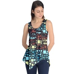 Block On Block, Aqua Sleeveless Tunic