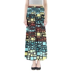 Block On Block, Aqua Maxi Skirts