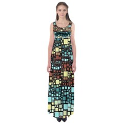 Block On Block, Aqua Empire Waist Maxi Dress