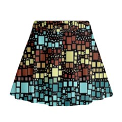 Block On Block, Aqua Mini Flare Skirt