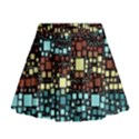 Block On Block, Aqua Mini Flare Skirt View1