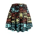 Block On Block, Aqua Mini Flare Skirt View2