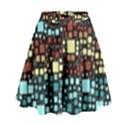 Block On Block, Aqua High Waist Skirt View1