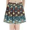 Block On Block, Aqua Pleated Mini Skirt View1