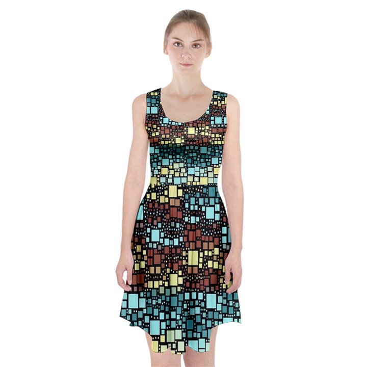 Block On Block, Aqua Racerback Midi Dress