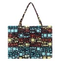 Block On Block, Aqua Medium Tote Bag View1