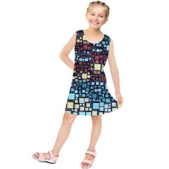 Block On Block, Aqua Kids  Tunic Dress