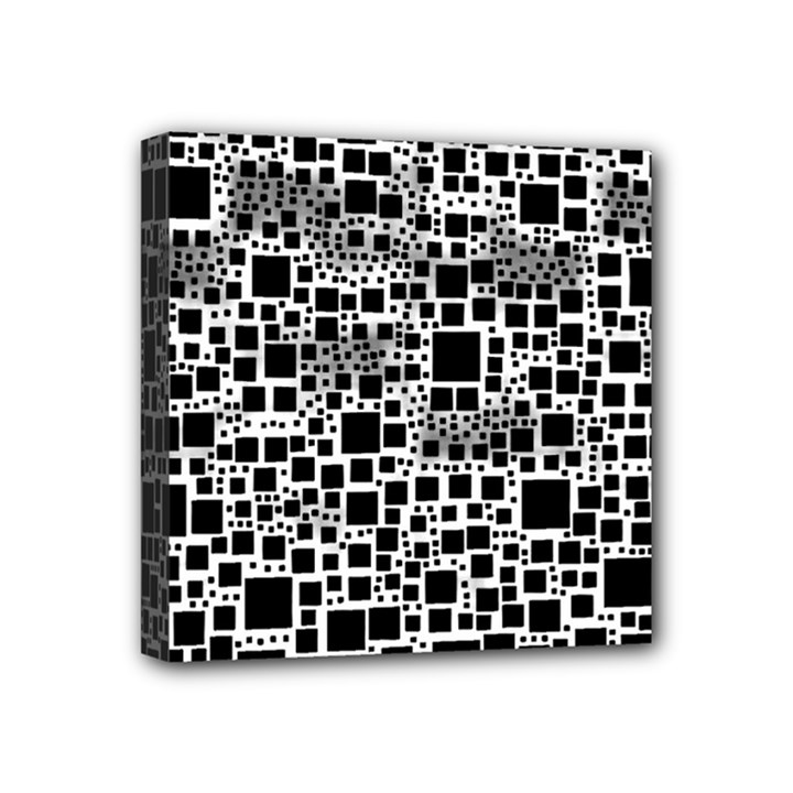Block On Block, B&w Mini Canvas 4  x 4