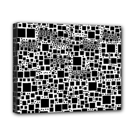 Block On Block, B&w Canvas 10  x 8