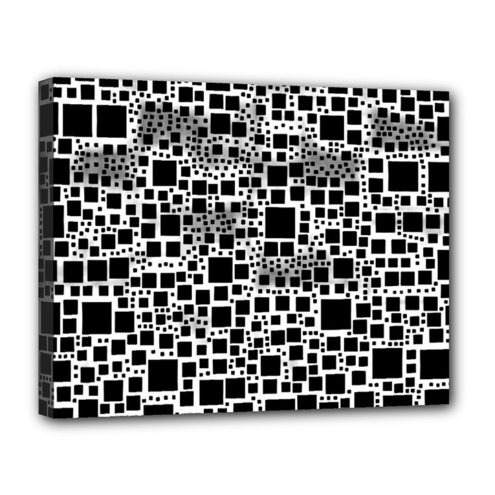 Block On Block, B&w Canvas 14  x 11