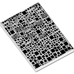 Block On Block, B&w Large Memo Pads