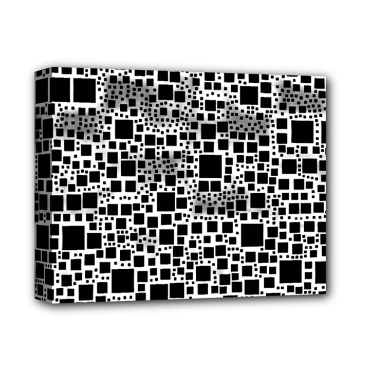 Block On Block, B&w Deluxe Canvas 14  x 11