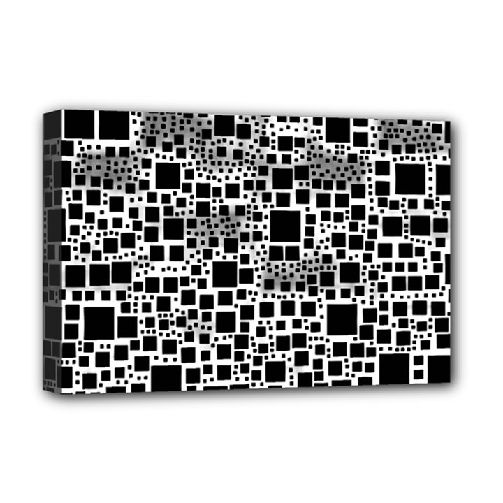 Block On Block, B&w Deluxe Canvas 18  x 12
