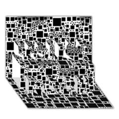 Block On Block, B&w You Rock 3d Greeting Card (7x5)