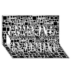 Block On Block, B&w Congrats Graduate 3d Greeting Card (8x4)