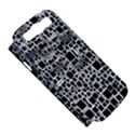 Block On Block, B&w Samsung Galaxy S III Hardshell Case (PC+Silicone) View5