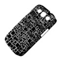 Block On Block, B&w Samsung Galaxy S III Classic Hardshell Case (PC+Silicone) View4