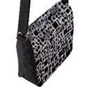 Block On Block, B&w Flap Messenger Bag (L)  View2