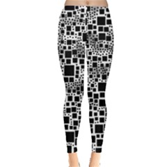 Block On Block, B&w Leggings