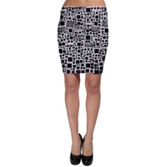 Block On Block, B&w Bodycon Skirt