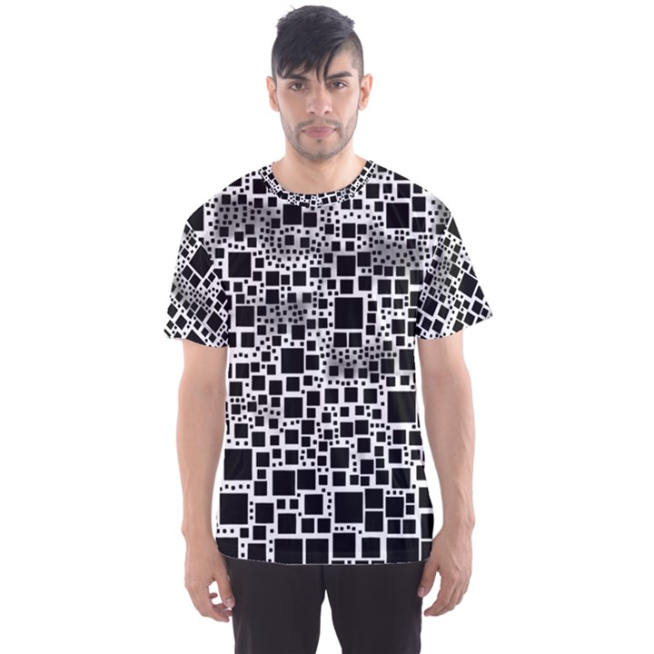 Block On Block, B&w Men s Sport Mesh Tee