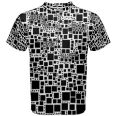 Block On Block, B&w Men s Cotton Tee