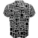 Block On Block, B&w Men s Cotton Tee View2