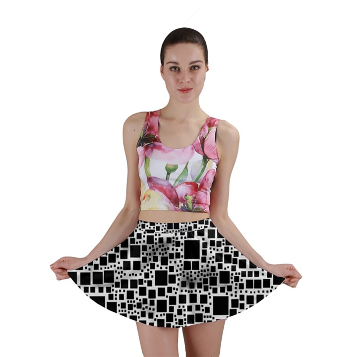 Block On Block, B&w Mini Skirt