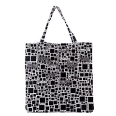 Block On Block, B&w Grocery Tote Bag