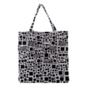 Block On Block, B&w Grocery Tote Bag View1