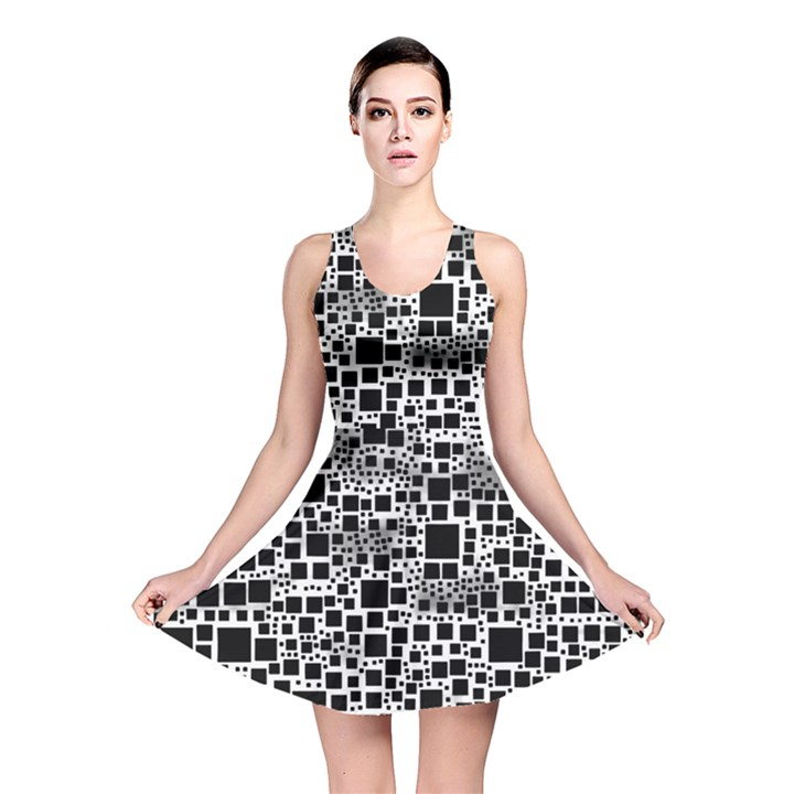 Block On Block, B&w Reversible Skater Dress