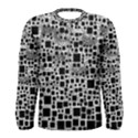 Block On Block, B&w Men s Long Sleeve Tee View1