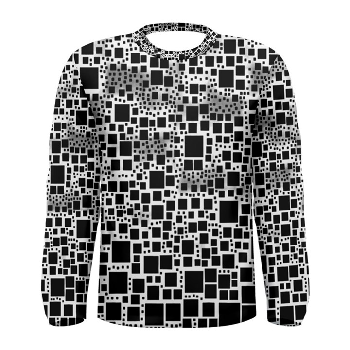 Block On Block, B&w Men s Long Sleeve Tee
