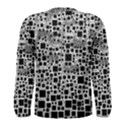 Block On Block, B&w Men s Long Sleeve Tee View2
