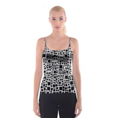 Block On Block, B&w Spaghetti Strap Top
