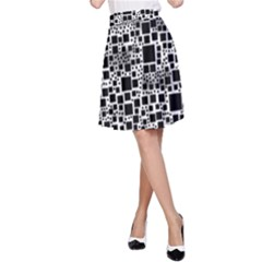 Block On Block, B&w A-Line Skirt