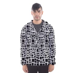 Block On Block, B&w Hooded Wind Breaker (men)