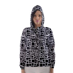 Block On Block, B&w Hooded Wind Breaker (Women)