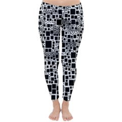Block On Block, B&w Winter Leggings